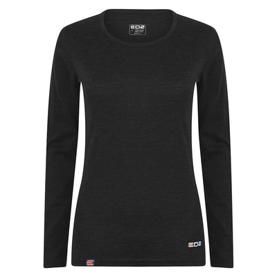 EDZ 200gsm Merino Womens Long Sleeve Top Black