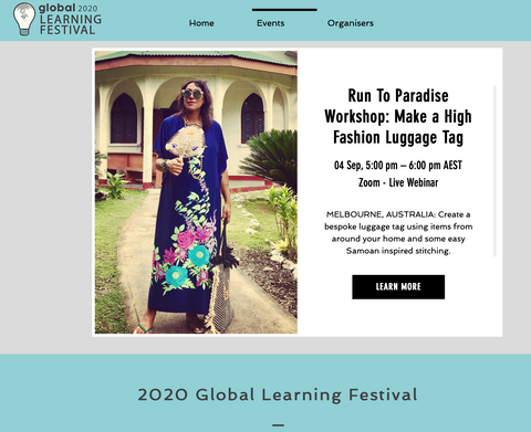 Mel Global Learning Festival 2020 free online fashion workshop