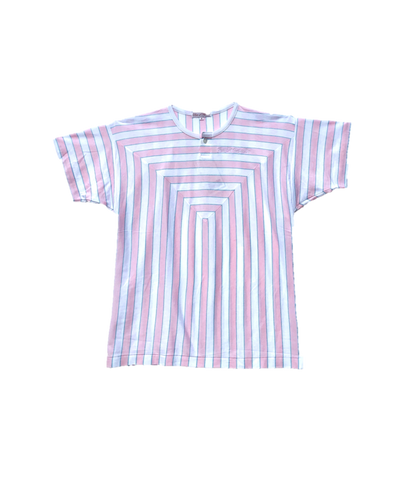 Pink and White Vertical Stripe tee