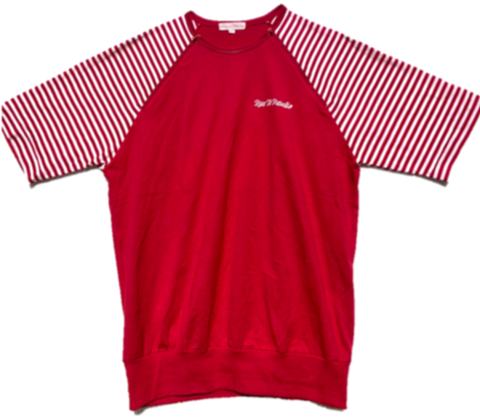 Nautical Red Stripe tee with zips
