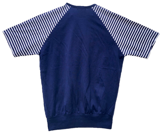Nautical Navy stripe tee with zips