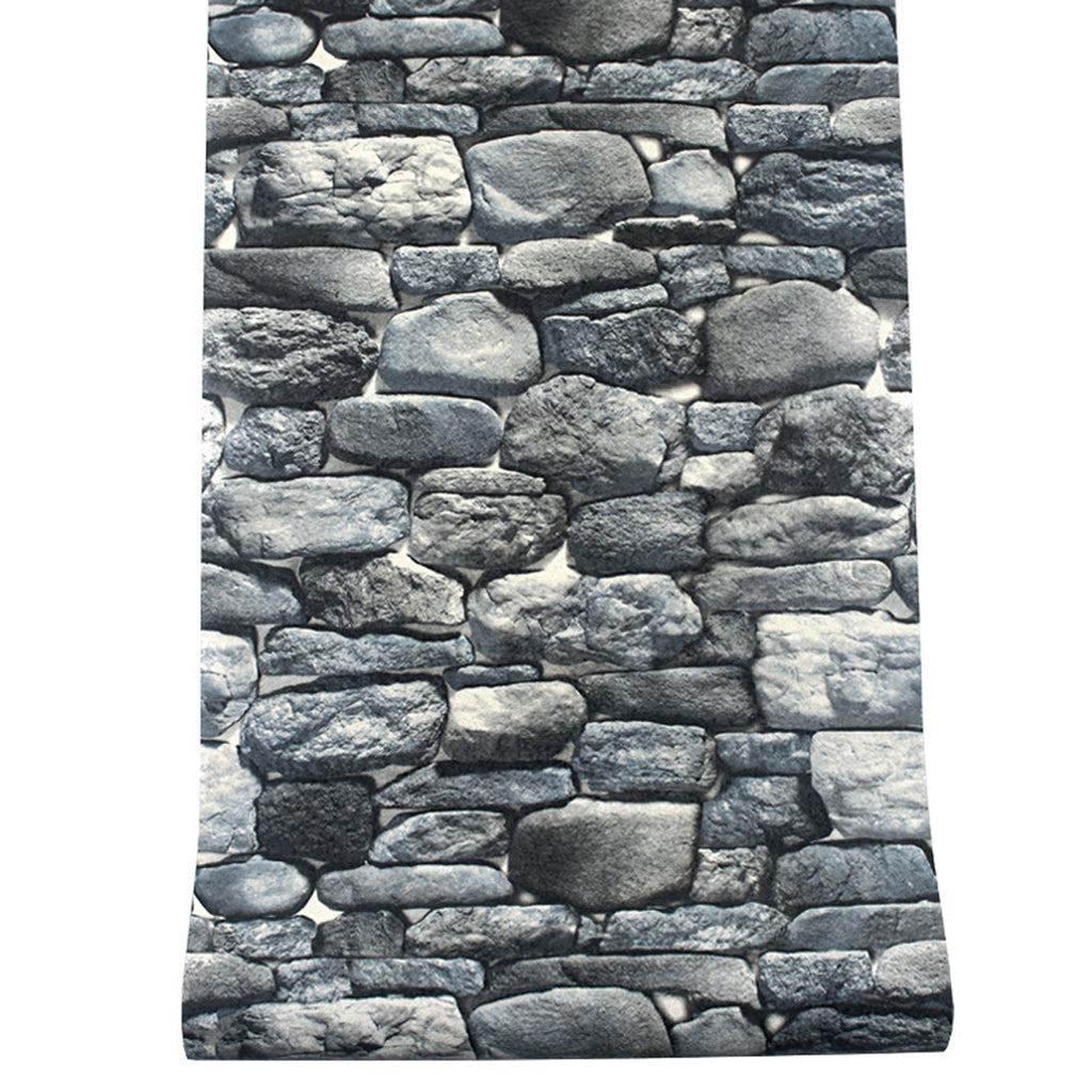 FauxStone™ Stone Retro Background Wall Paper Sticker Wallpaper
