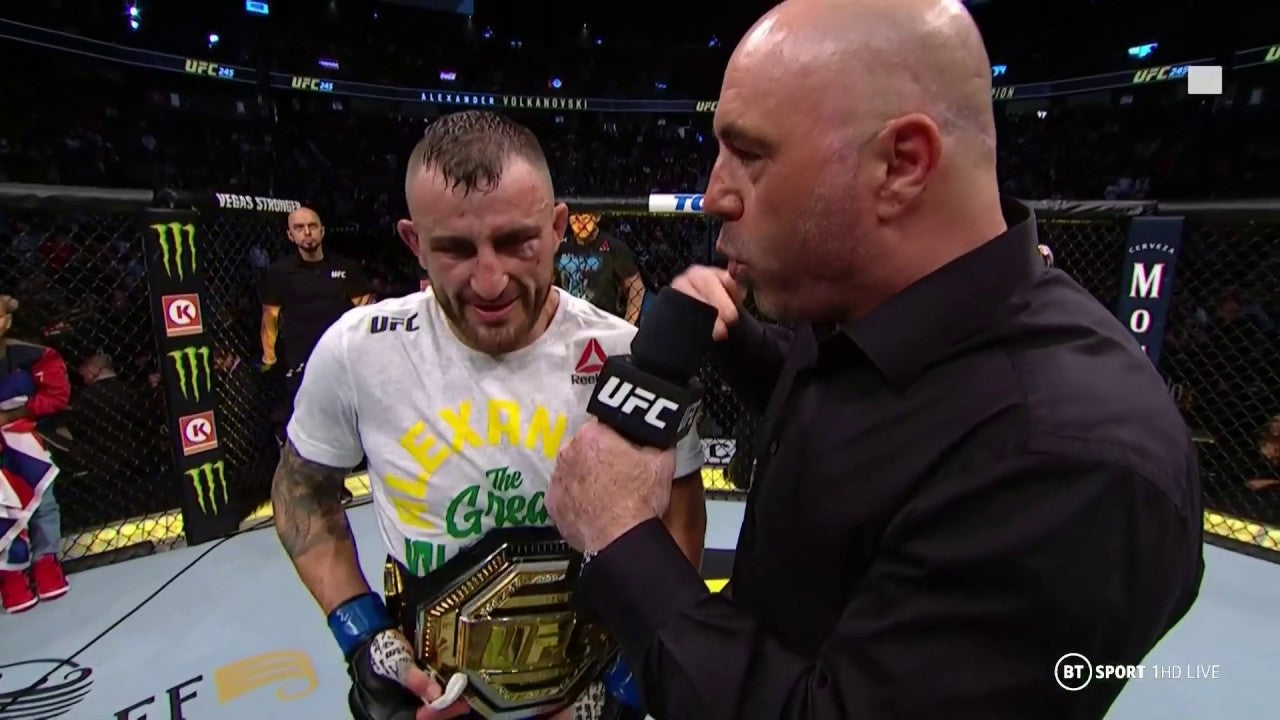 Alex Volkanovski reacts to huge title win at UFC 245
