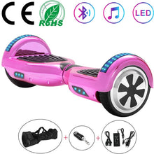 Load image into Gallery viewer, 6.5 Inch Self-Balancing Scooters Cheap LED Electric Scooters Two Wheels Balance Skateboard Hoverboard Bluetooth+Remote Key+Bag