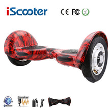 Load image into Gallery viewer, Free shipping Hoverboard 10 inch two wheel smart self balancing scooter electric skateboard with Bluetooth speakers giroskuter