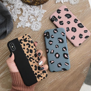 Chic Pop Art Leopard Print iPhone Cases