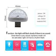 Load image into Gallery viewer, Multi-Color LED Car Interior USB Light