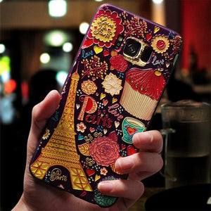 Luxury 3D Matte Embossed Case For Samsung Galaxy