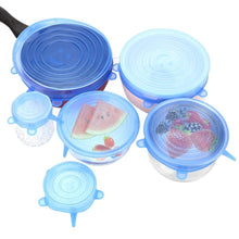 Load image into Gallery viewer, 6 Pack Stretch & Seal Silicone Lids