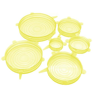 6 Pack Stretch & Seal Silicone Lids