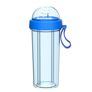 Portable Dual Straw Water Bottle