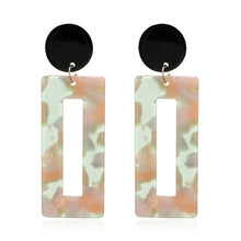 Load image into Gallery viewer, Bohemian Acrylic Resin Oval Square Geometric Drop Dangle Earrings - Nova Dream Shop