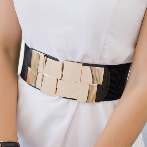 Wide Belt Gold Square Buckle - Nova Dream Shop