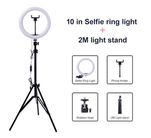 Photography Video Dimmable LED Selfie Youtube Ring Light Lamp - Nova Dream Shop