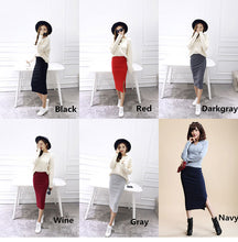 Load image into Gallery viewer, Stretchable Split Mid Calf Slim Pencil Skirts - Nova Dream Shop