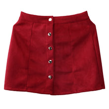Load image into Gallery viewer, Solid Slim A-Line  Leather Mini Skirt - Irene Cheung