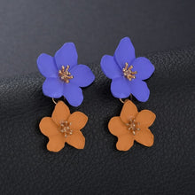 Load image into Gallery viewer, Big Double Flower Mixed Color Earrings For Women - Nova Dream Shop