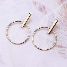 Load image into Gallery viewer, Big Circle Round Drop Earrings Gold Earring - Nova Dream Shop