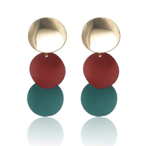 Fashion Round Dangle Drop Earrings For Women - Nova Dream Shop