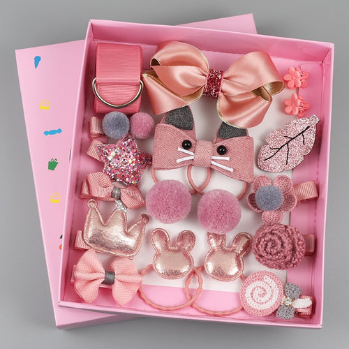 18 Piece hair clip set Cute Hair Accessories - Nova Dream Shop