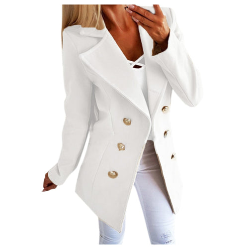 Double-breasted Lapel Jacket Casual Business Solid Jacket - Nova Dream Shop