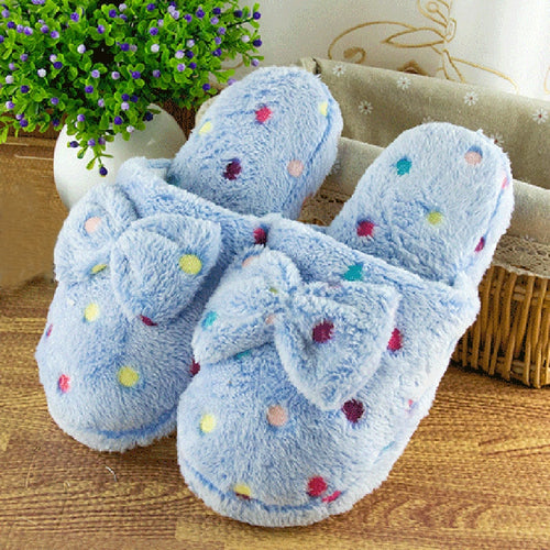 Warm Cute Bow Slippers Home Wear Sandals - Nova Dream Shop