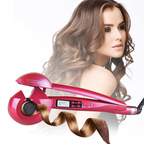 Ceramic Heating Automatic LCD Screen Display  Wave Hair Curler - Irene Cheung