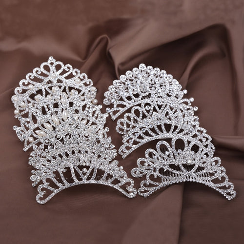 Hair Jewelry Crystal Bridal Princess Crown Wedding Hair Accessories - Irene Cheung