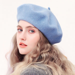 Wool Beret Hats Winter French Hat - Irene Cheung
