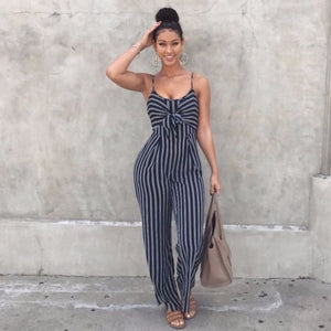 Elegant Women Sets Backless Casual Wide Legs Jumpsuits Legging - Nova Dream Shop
