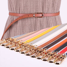 Load image into Gallery viewer, Faux Leather Belts Candy Color Thin Skinny Waistband Adjustable Belt - Nova Dream Shop