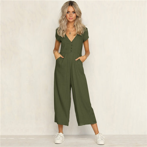 Causal Fashion Pure Jumpsuit Trousers Legging - Irene Cheung
