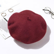 Load image into Gallery viewer, Wool Beret Hats Winter French Hat - Irene Cheung