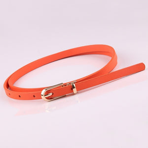 Faux Leather Belts Candy Color Thin Skinny Waistband Adjustable Belt - Nova Dream Shop