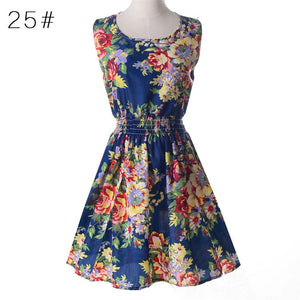 Casual Summer Chiffon Dress Women Sexy Floral Short Beach - Irene Cheung