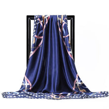 Load image into Gallery viewer, Twill Silk Large Scarf Belt Pattern Satin Square - Nova Dream Shop