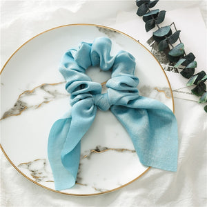 Chiffon Bowknot Silk Hair Scrunchies Bands Hair Accessories - Nova Dream Shop
