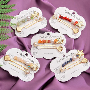 Trendy Sea Shell Hair Clips Hair Accessories Summer Korea - Nova Dream Shop