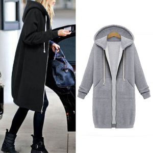 Warm Winter Fleece Hooded Parka Coat Overcoat Long Jacket - Nova Dream Shop