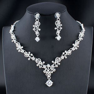 Wedding jewelry set necklace earrings accessory gift - Irene Cheung