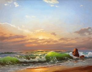 DIY Painting by Numbers Sea Scenery On Canvas - Nova Dream Shop