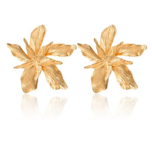 FLOWER golden Drop Earrings - Nova Dream Shop