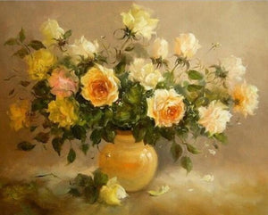 DIY Oil Painting by numbers Flowers Nature Frameless - Nova Dream Shop