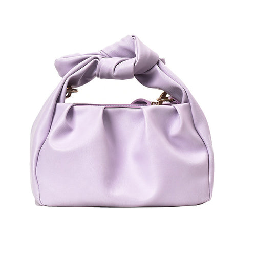 Elegant Purple Soft Leather Summer Crossbody Shoulder Tote Bag Lady - Nova Dream Shop