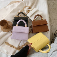 Load image into Gallery viewer, Luxury Pale Purple Stone Pattern Mini PU Leather Crossbody Bag with Metal Chain - Nova Dream Shop