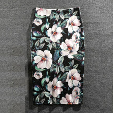 Load image into Gallery viewer, Women Print Flowers Pencil Skirt Casual Skirts Knee-Length - Nova Dream Shop