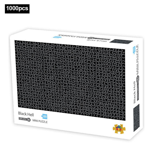 1000 Pieces Of Puzzle Jigsaw Mini Puzzle Game Black Hell - Nova Dream Shop
