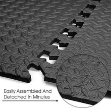 Load image into Gallery viewer, 12pcs EVA Foam Grain Tiles Non-slip Mat Health and Fitness Interlocking Tiles Floor Protective Cushion for Gym Dance Workouts - Nova Dream Shop