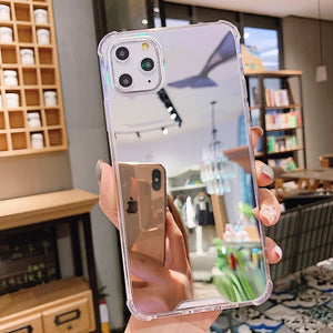 Luxury Clear Makeup Mirror Phone Case For iphone 11 Pro XS MAX XR X Soft Silicone Cover For iphone 7 8 6S 6 Plus Shockproof Case - Nova Dream Shop