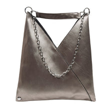 Load image into Gallery viewer, Black Leather Metal chain Tote Bag Shoulder Bags - Nova Dream Shop